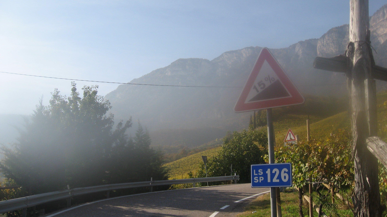 Rennradführer Südtirol: Fennberg / 15% Steigung