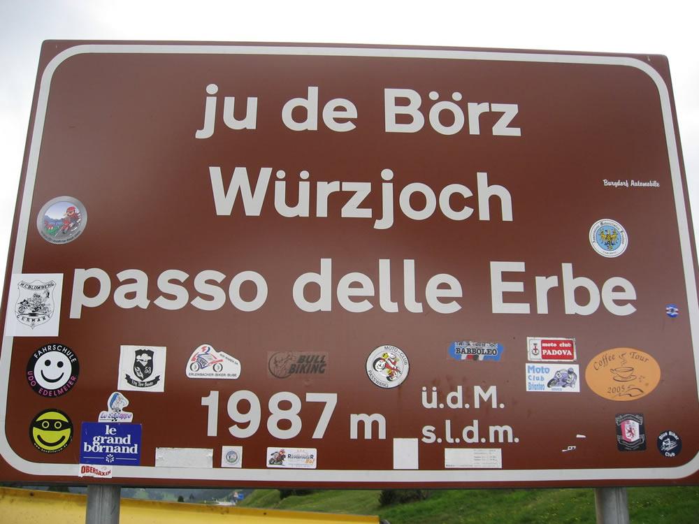 Würzjoch / Passo delle Erbe / Ju de Börz