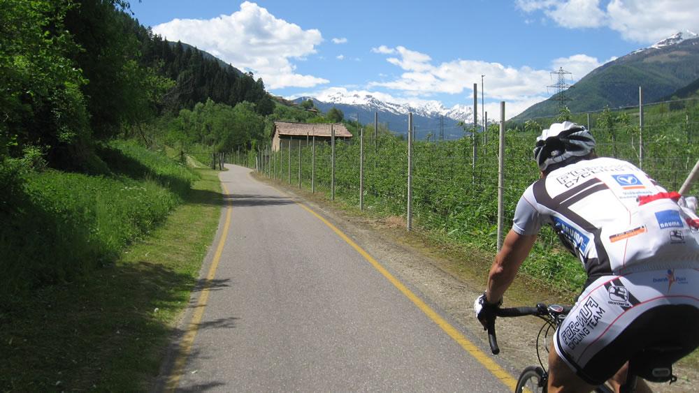 Mit dem Rennrad ins Val di Non