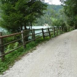 Kiesbelag am Pustertaler Radweg am Olanger Stausee