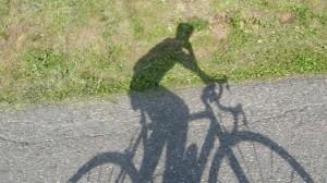 Rennrad Schatten