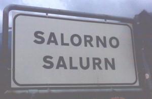 Salurn an der südlichen Grenze von Südtirol