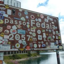 Rennradtour Fedaia - Pellegrino: Passo di Fedaia (2057m)
