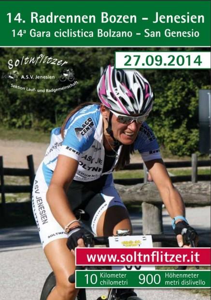 Radrennen Bozen - Jenesien 2014