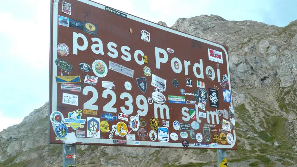 Rennradtour von Canazei über den Passo Pordoi nach Arabba