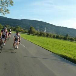Mit dem Rennrad kurz vor dem Ziel