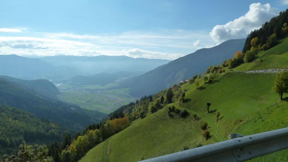 Blick von Tesselberg ins Pustertal