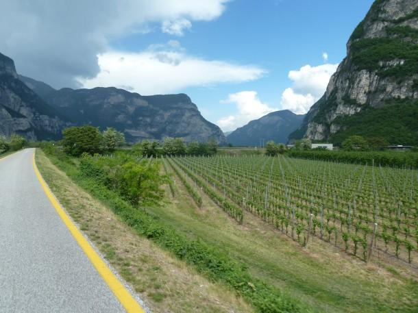 Rennradführer Trentino Nord / Passo San Lugano – Cembratal: Radweg im Etschtal
