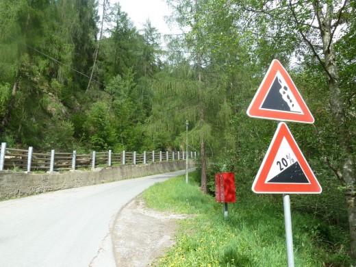 Rennradtour Pfossental / Schnalstal / Südtirol