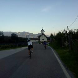 Rennradtour im Sommer durch das Südtiroler Unterland
