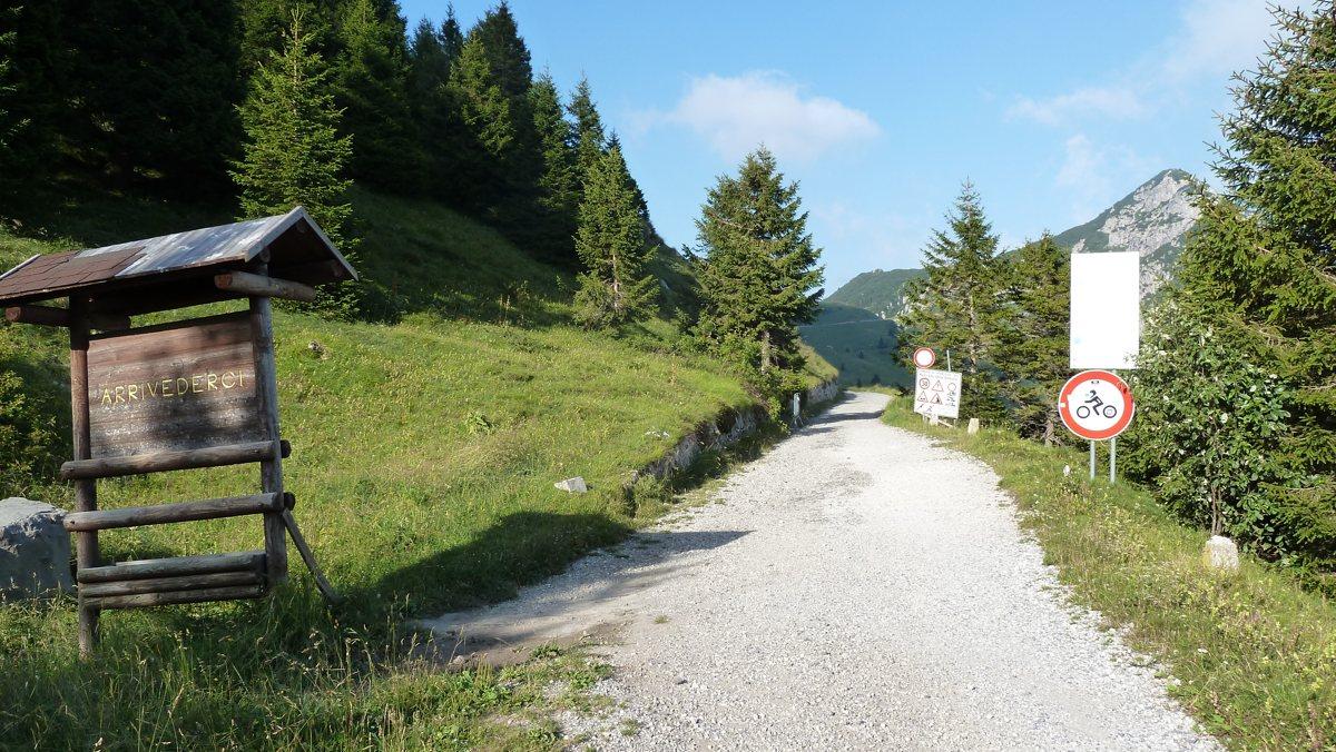 Rennradtour Passo Ampola - Passo Tremalzo: Endstation