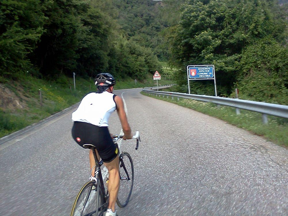 Rennradtour über den Salden / Südtirol