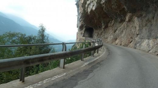 Rennradstrecke aus dem Sacretal nach Ranzo