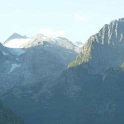 Adamello Gebirge von der Auffahrt zum Gaviapass