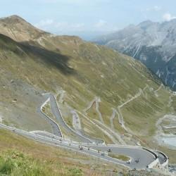 Nordauffahrt zum Passo Stelvio