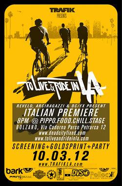 Filmpremiere To Live & Ride in L.A. in Bozen