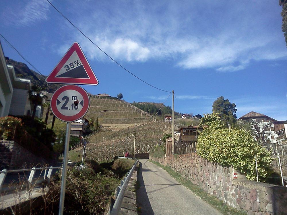 Mit 35 Prozent Steigung zum Schloss Rabenstein