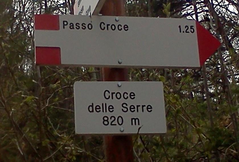 Croce delle Serre (820m) im Trentino