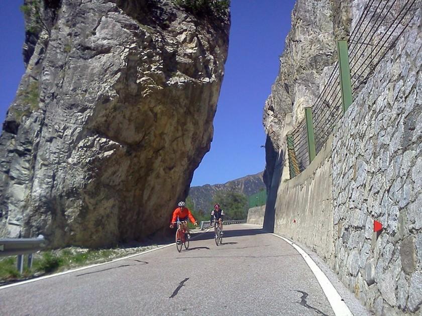 Rennradabfahrt Penserjoch / Südtirol