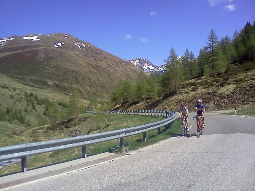 Rennradauffahrt zum Penserjoch / Südtirol