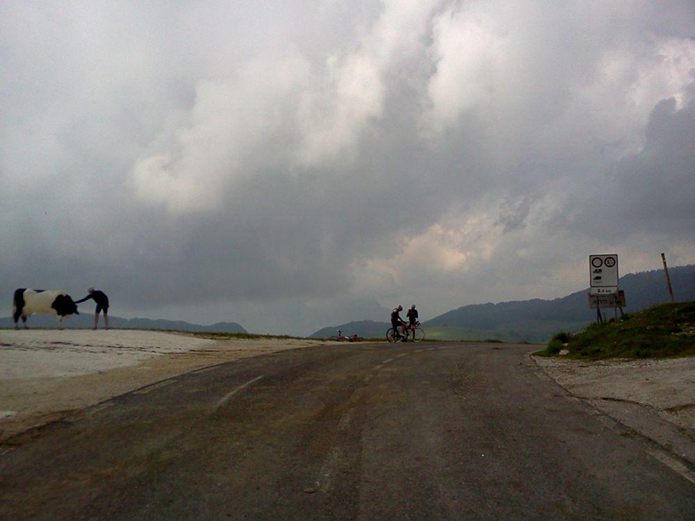 Gewitterwolken am Passo Fittanze im Veneto.