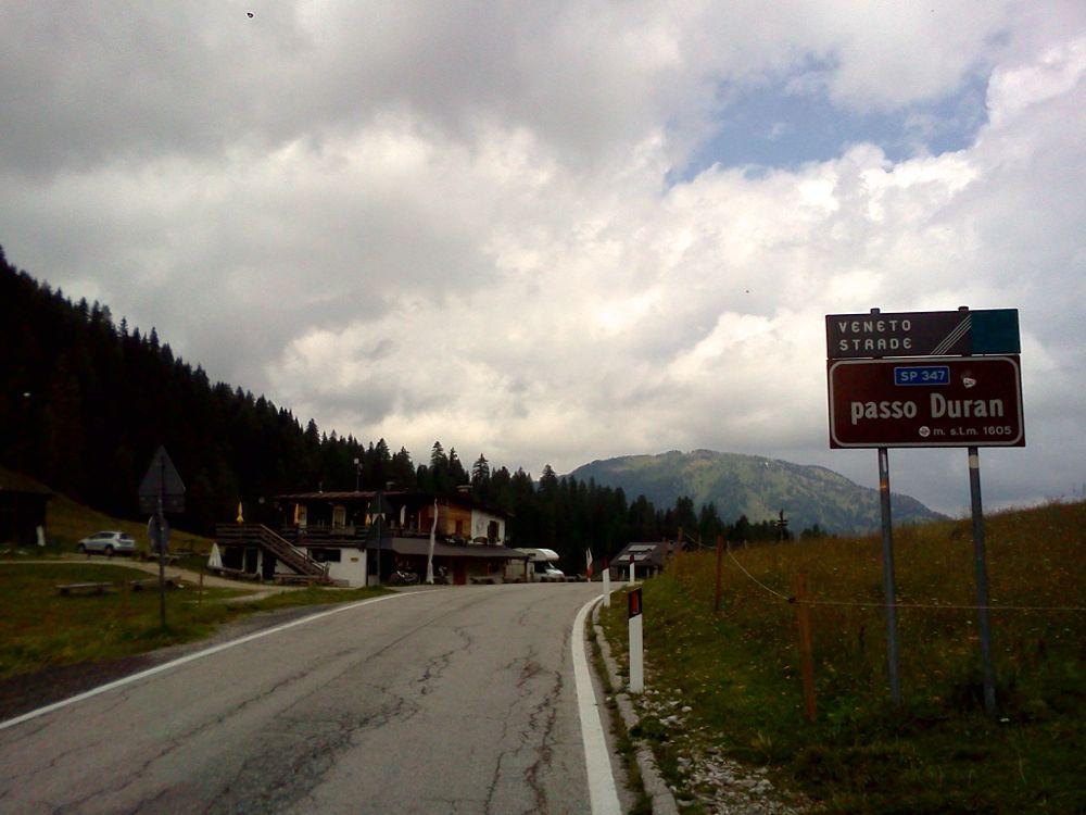 Rennradtour über den Passo Duran im Veneto