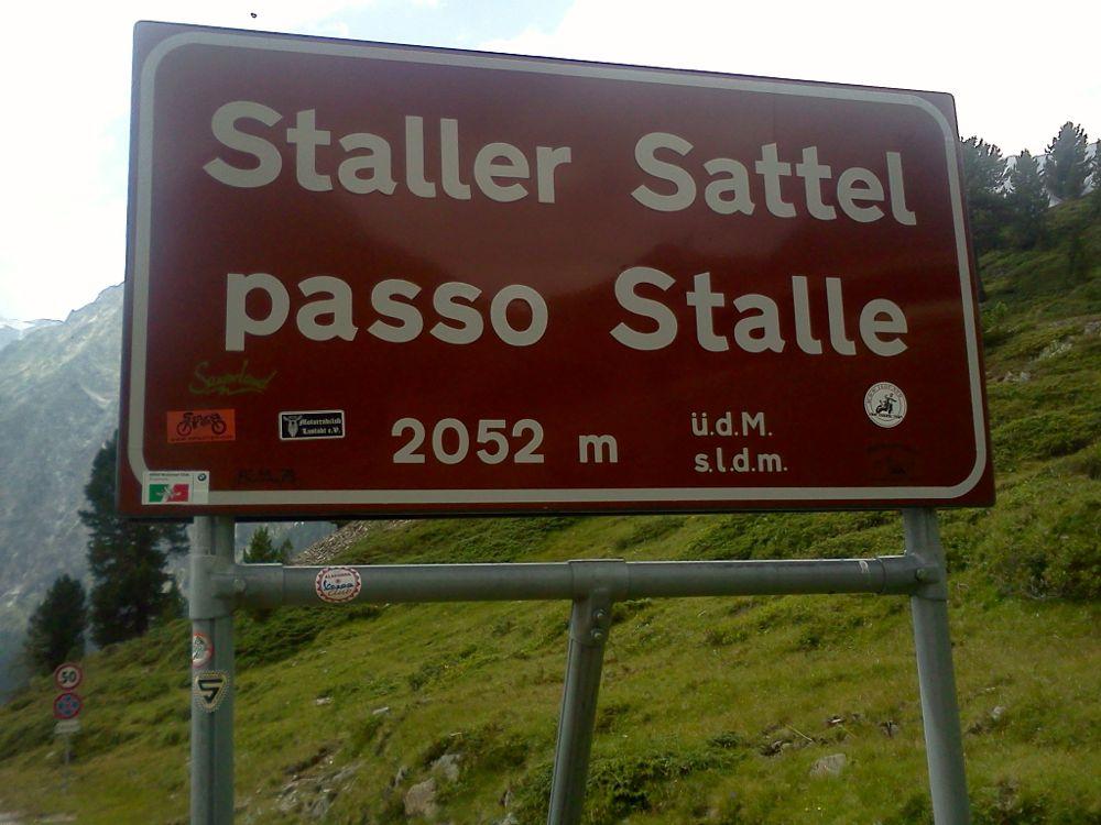 Grenzübetrgang Staller Sattel zwischen Osttirol und Südtirol