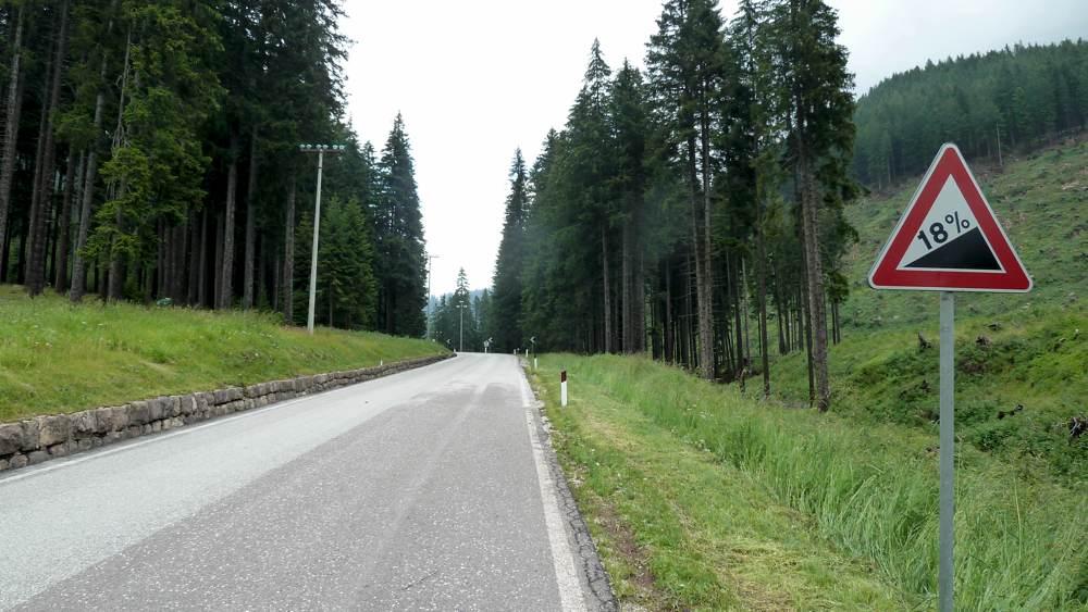Auffahrt von Cavalese zum Passo Lavazé