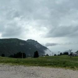 Blick ins Skigebiet Obereggen / Pampeago