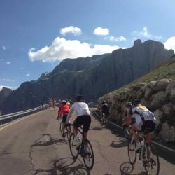 Auffahrt Passo Sella