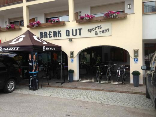 BreakOut Bike Shop in La Villa im Gadertal in Südtirol