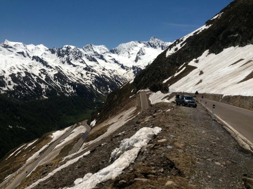 Serpentinen am Timmelsjoch auf der Südtiroler Seite