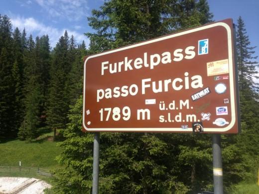 Furkelpass / Passo Furcia in Südtirol