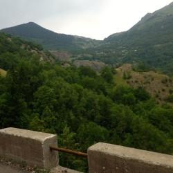 BBlick hinauf von der N91 nach Alpe d'Huez