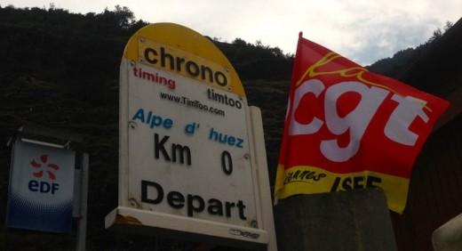 Start zu den 21 Kehren von Alpe d Huez