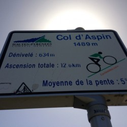 Col d'Aspin Ostauffahrt: 12,6 Kilometer - 634 Höhenmeter