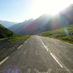 Rennradtour Pyrenäen / Blick Richtung Luz-Saint Sauveur