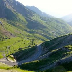 Rennradtour Pyrenäen / Blick zurück Schlußanstieg