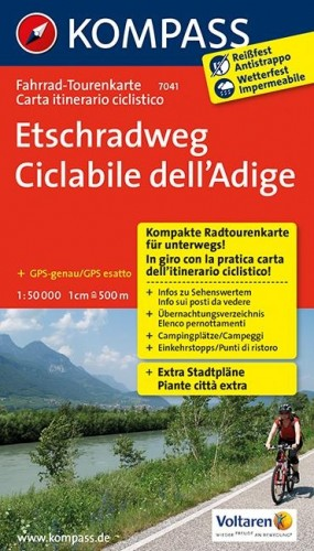 Fahrrad Tourenkarte Etschradweg Südtirol