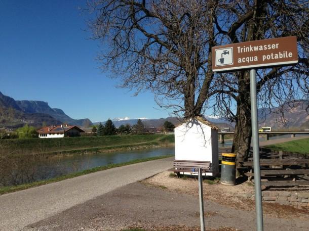 Brunnen Etschradweg