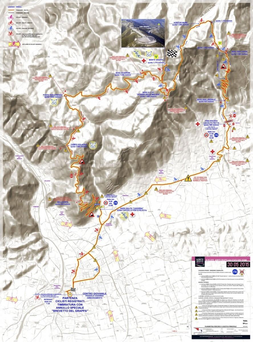 Monte Grappa Bikeday Strecke