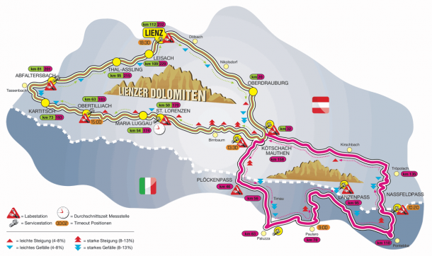 Strecke Super Giro Dolomiti