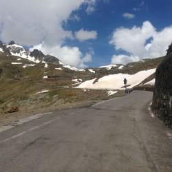 Gavia - Mortirolo / Sicht zum Pass