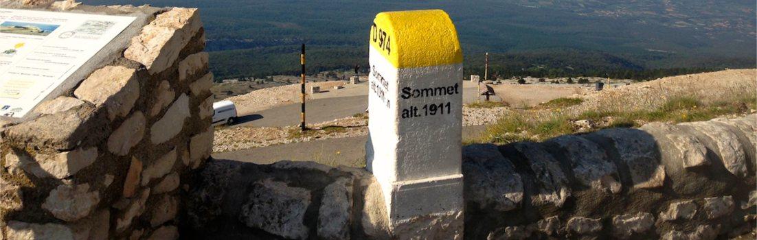 Mont Ventoux Markierung Sommet