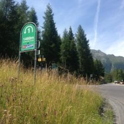 Rennradtour Ötztaler Gletscherstrasse: Kehre 1