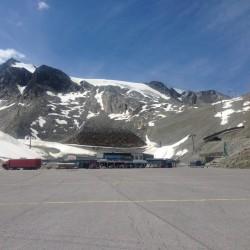 Rennradtour Ötztaler Gletscherstrasse: Parkplatz Tiefenbachferner