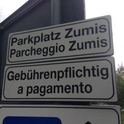 Parkplatz Zumis / Rodeneckeralm