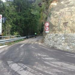 Rennradtour Videgg: Abzweig für Autos gesperrt