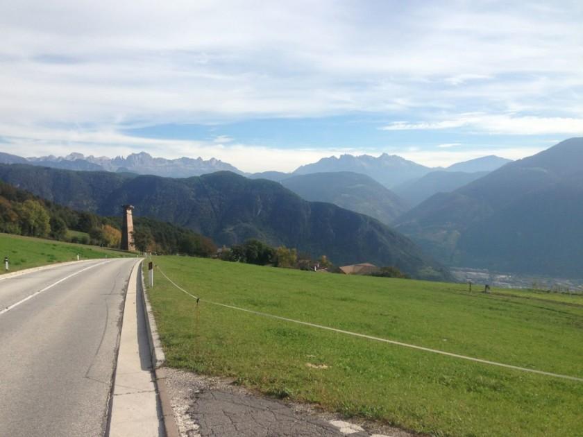 Alte Jenesier Strasse: Dolomitenpanorama