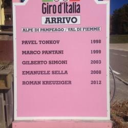 Reiterjoch: Giro d'Italia Ankünfte